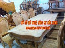 Bàn ghế ăn gỗ gõ đỏ sản phẩm 2