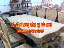 Bàn ghế ăn gỗ gõ đỏ sản phẩm 1