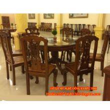 Bộ bàn ăn kiểu cờ bạc gỗ gụ  sản phẩm 1