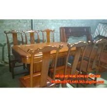 Bộ bàn ăn kiểu tay quan gỗ hương sản phẩm 1