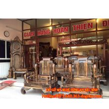 Bộ bàn ghế không minh gỗ mun sản phẩm 1