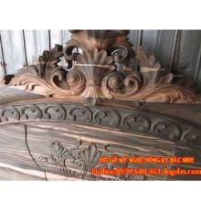 Giường ngủ Hoàng Đế gỗ mun hoa sản phẩm 3