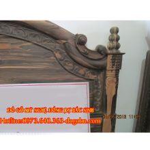 Giường ngủ Hoàng Đế gỗ mun hoa sản phẩm 4