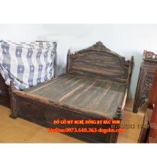 Giường ngủ Hoàng Đế gỗ mun hoa sản phẩm 1