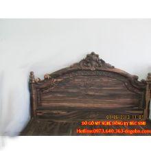 Giường ngủ Hoàng Đế gỗ mun hoa sản phẩm 2