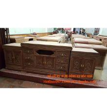 Kệ mõ kiểu tàu nổi giữa gỗ hương vân sản phẩm 1