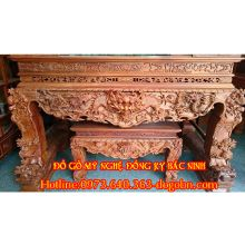 Sập thờ chạm tứ linh gỗ hương sản phẩm 1