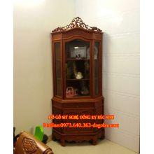 Tủ góc hoa lá tây gỗ gụ sản phẩm 1