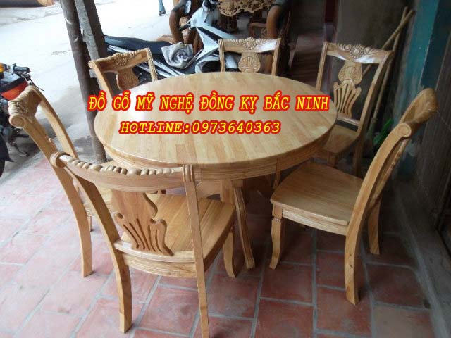 Bộ bàn ăn tròn