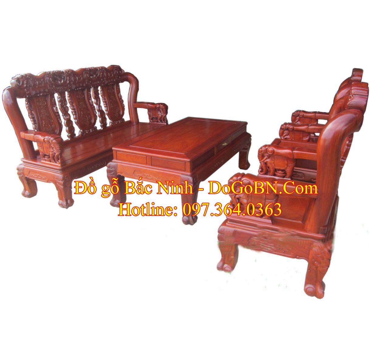 Bộ bàn ghế Quốc Voi BG-106