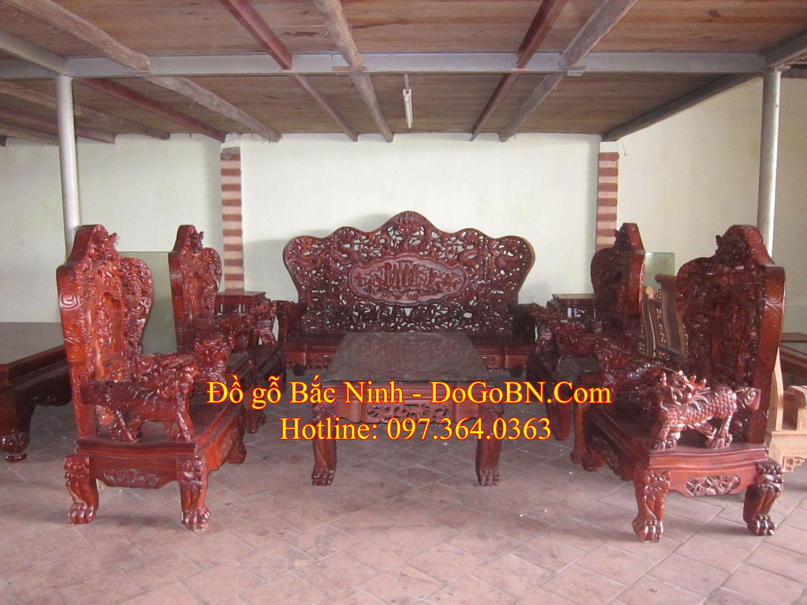 Bộ bàn ghế Rồng Bát Mã DGBN-1