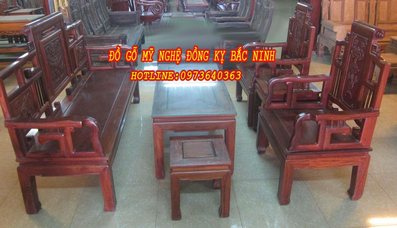Bộ bàn ghế Triện Rơi
