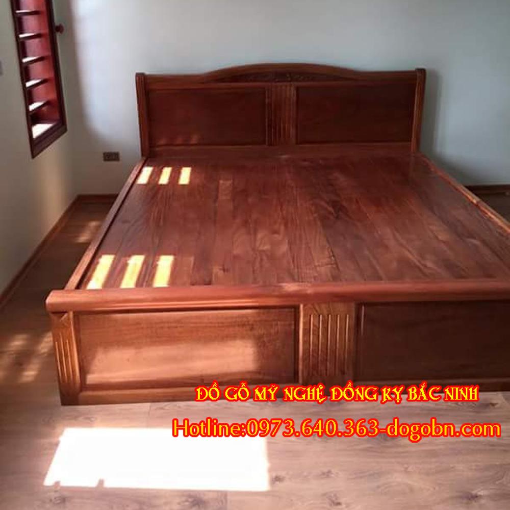 Giường kiểu mới gỗ hương sản phẩm 1