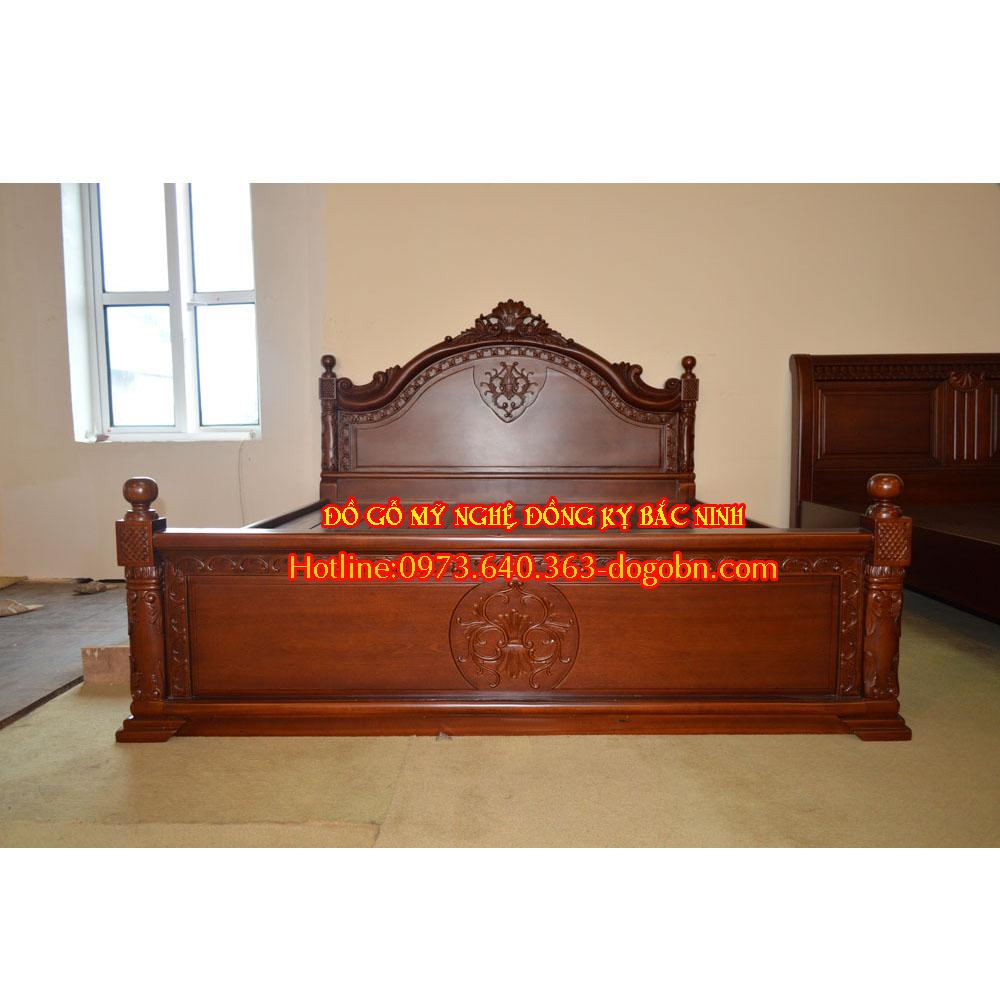 Giường ngủ Hoàng Đế gỗ hương