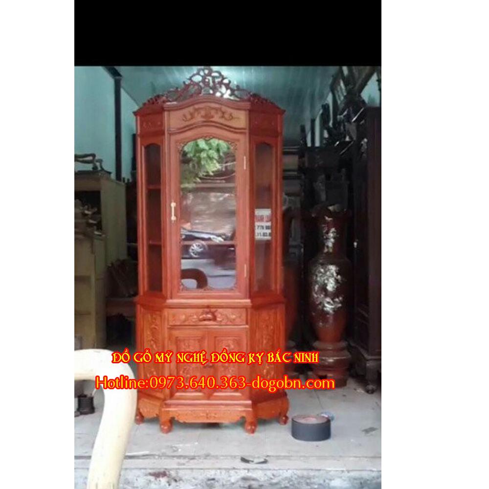 Tủ rượu góc gỗ hương