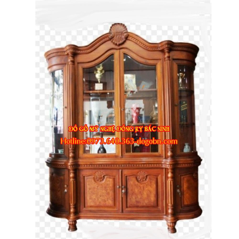 Tủ rượu hoa lá tây gỗ hương