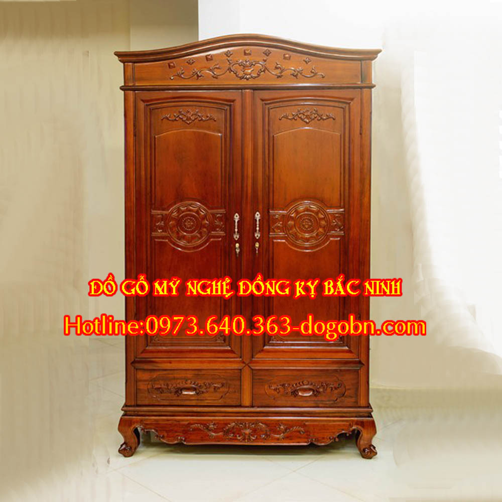 Tủ quần áo 2 cánh gỗ hương sản phẩm 1